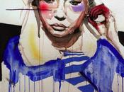 Portraits mouvements peints