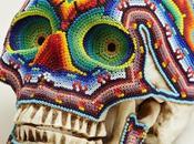 Perles têtes mort Exquise Corpse Huichol Mexique Design