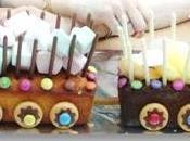 recette Gâteau d'anniversaire train