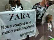 Genève Action spectaculaire Greenpeace dans magasin Zara
