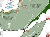 Carte Nusa Lembongan Ceningan, Bali, Indonésie.