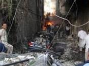 SYRIE. Jaramana (Damas) morts blessés, oeuvre amis François Hollande