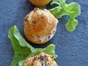 Mini Gougères mousse saumon fumé citron confit