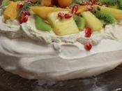 Pavlova fruits exotiques (essai avec meringue suisse