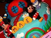 Gâteau chocolat fourré ganache blanc/speculoos thème Maison Mickey