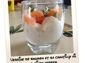 Verrine saumon chantilly fines herbes...