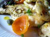 Aiguillettes poulet marinées curcuma, condiment tamarin-olives noires-kumquats