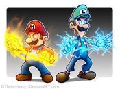 Mario Luigi choc titans
