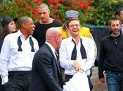 """Suit Tie"" photos tournage clip Justin Timberlake Feat. Jay-Z"