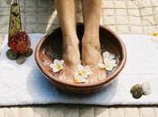 Bain pieds lavande