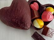Bonbonnière coeur chocolat noir
