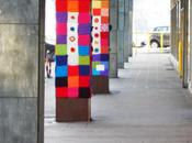 Clic-clac 3*23- Yarn bombing Liège