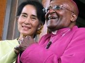 """Rangoun pour rencontrer Aung Kyi, Desmond Tutu déclare """"amour"""" soutien inconditionnel combat non-violent"""