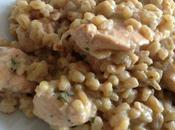 Recette n°57: Eblysotto poulet, ricotta persil.