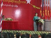 Objectif: Présidente Birmanie 2015! Aung Kyi, réélue l'unanimité tête parti, Ligue Nationale pour Démocratie.