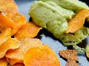 Chips patates douces guacamole