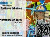 #expo #paris Ecritures urbaines performance Tarek galerie Collectie