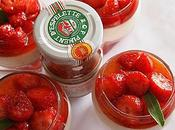Verrines PANNA-COTTA VANILLE, gelée fraise piment d'espelette salade caramel