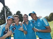 stars Real Madrid jouent Football-Golf