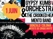Tangoriental Gypsy Kumbia Orchestra DoDonya trio pour semaine