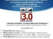 """Réunion débat samedi juin """"Services famille enjeu majeur Courbevoie"""""""