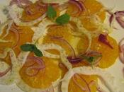 Salade d'oranges sanguines, oignons rouges fenouil