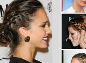Tuto coiffure: chignon tressé Jessica Alba