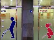 Panneaux toilettes drôles