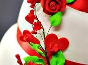 Wedding cake blanc rouge
