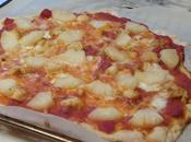 Pizza hawaïenne poulet l'ananas Hawaiian pizza with chicken pineapple