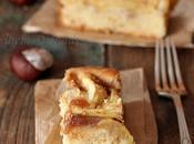 gâteau pommes, miel crème marrons glacés