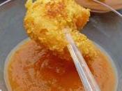 Crevettes panées curly cacahouètes sauce ketchup maison pour l'apéritif