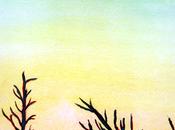Peinture coucher soleil aquarelle