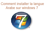 Comment installer langue Arabe windows [tuto]