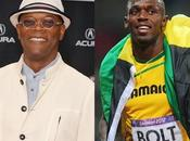Usain Bolt cinéma côtés Samuel Jackson David Beckham 2014