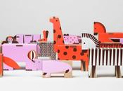 animaux cartons Papierowe Miasto Jouet