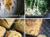 safran herbes pour délicieux cornbread