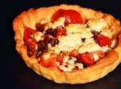 Tartelette feta tomates cerises oignons rouges caramelisés