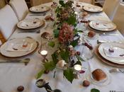 Table d'automne comme balade dans bois Autumn table like walk forest