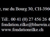 Fondation Rainer Maria RILKE (Sierre)conférence Octobre 2013 Bernard BOSCHENSTEIN