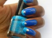 Mancure bleue inspiration French [Studs étoilés inside]