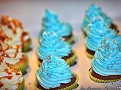 Cupcakes chocolat noir topping blanc