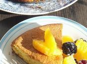 Gâteau semoule maïs fleur d'oranger délice}