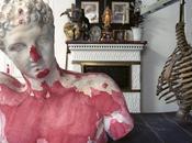 Buste plâtre d'académie XIXe