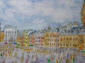 Grand'Place Lille Aquarelle