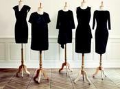 petite robe noire revisitée couturiers pour Monoprix