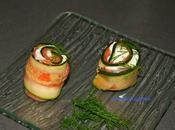 Sushi courgettes saumon fumé, chévre frais piment Espelette