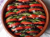 exactement vacances (mais ressemble fortement) Tian d'aubergines, courgettes tomates