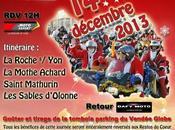Balade Pères Noël Motards Roche 14/12/2013