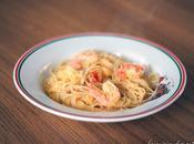 Spaghetti courge scampis